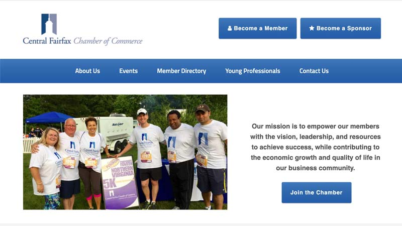 Central Fairfax Chamber of Commerce Desktop Screenshot