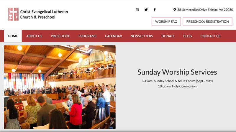 Fairfax Lutheran Church Desktop Screenshot