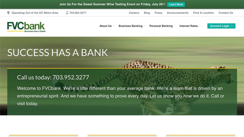 FVC Bank Desktop Screenshot