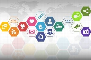 an image of many social media icons options for your new dental social media marketing campaign with 321 web marketing