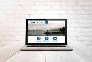 Laptop with a digital marketing website design