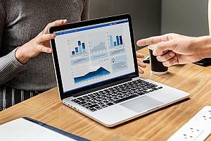 data graphs showing data analytics of insurance marketing services
