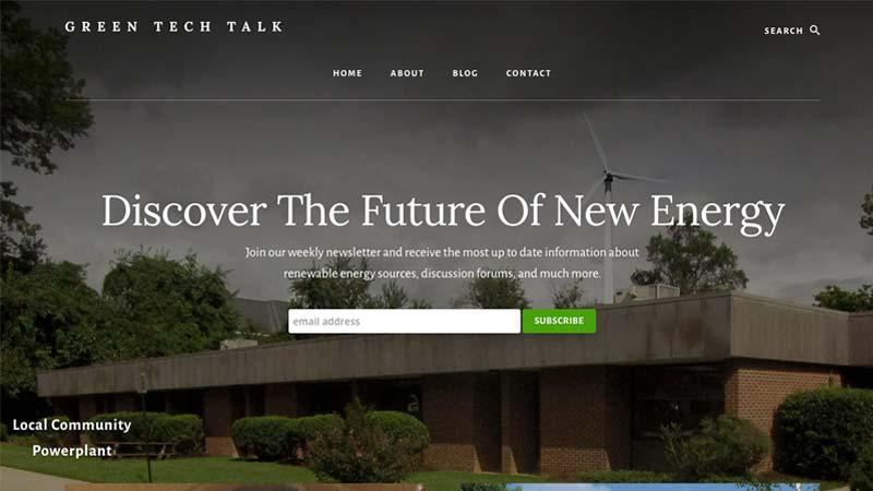 Green Tech Talk Desktop Screenshot
