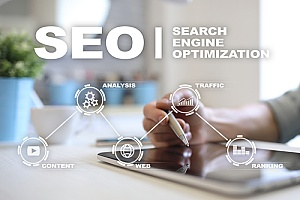 Ashburn, VA SEO represented by an infographic