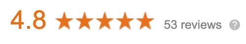 Online reviews for an insurance agency