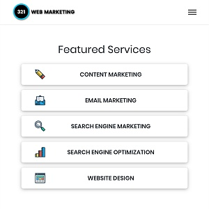 321 web marketing mobile view