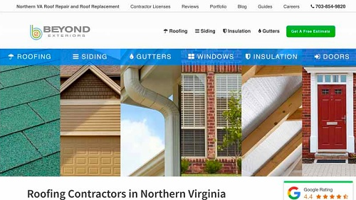 One of our Chantilly, VA web design project examples - Beyond Exteriors