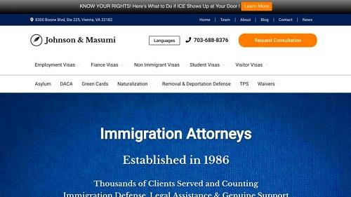 321 Web Marketing - Fairfax, VA web design - law firm example