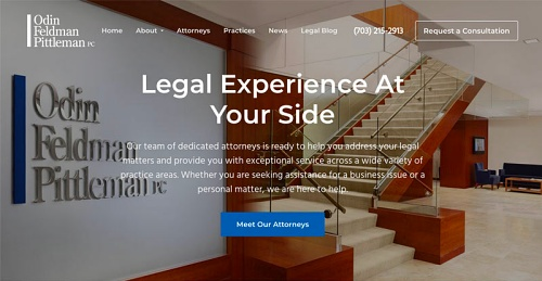 321 Web Marketing - Reston, VA web design example - OFP Law