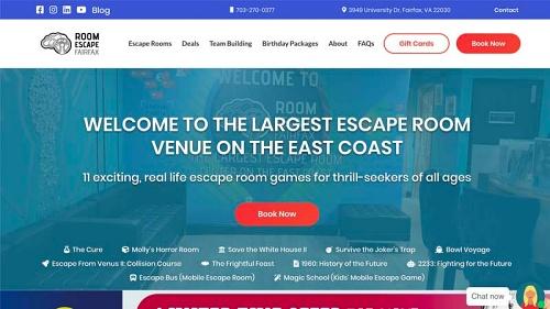 One of our Washington, DC web design clients _ Room Escape DC/Fairfax