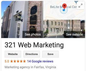321 web marketing google my business listing