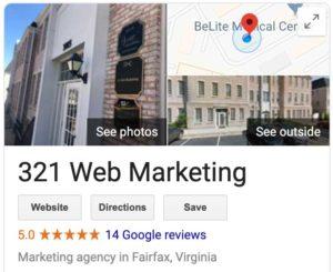 321 web marketing google my business listing