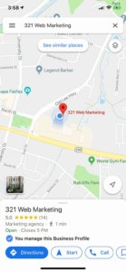 321 web marketing on google maps