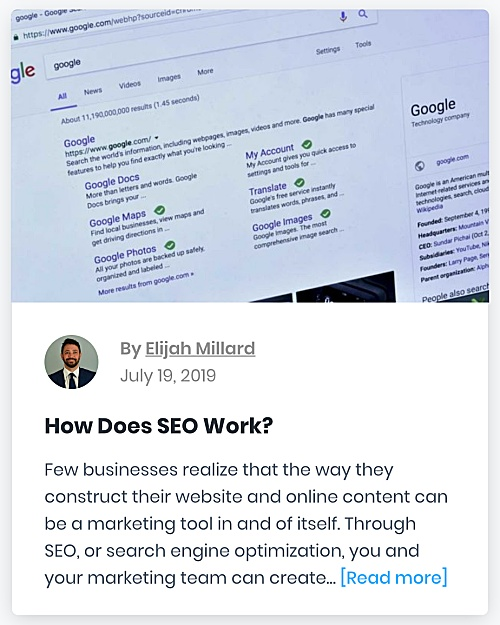 "321 Web Marketing Washington, DC SEO blog - ""How Does SEO Work?"" - thumbnail"