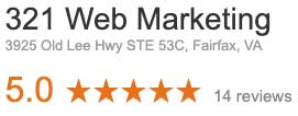 Google reviews helping local SEO efforts for 321 Web Marketing