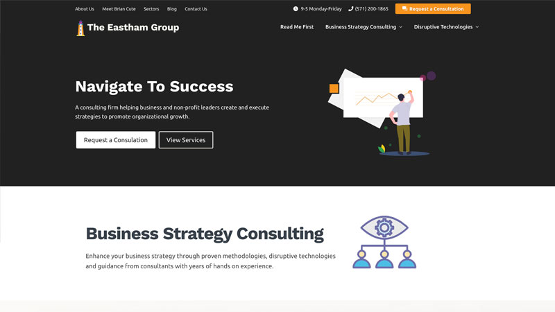 The Eastham Group desktop view