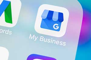 Google My Business icon representing local seo
