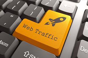 Orange Web Traffic Button on Computer Keyboard