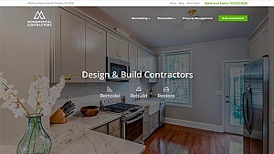Monumental Contractors desktop screenshot - Chantilly VA SEO