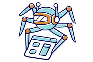 Web spider crawling alt text