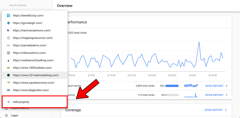 Google Search Console verification - step 2