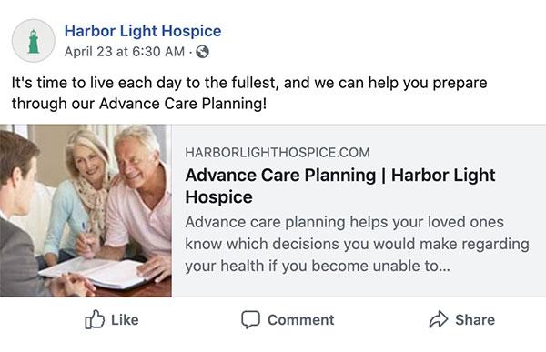 Harbor Light Hospice Facebook post (#3)