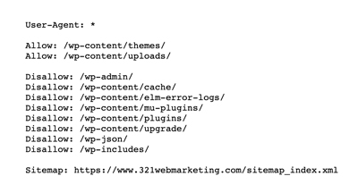 well-optimized robots.txt file