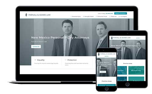 Law firm marketing client mobile friendly website views