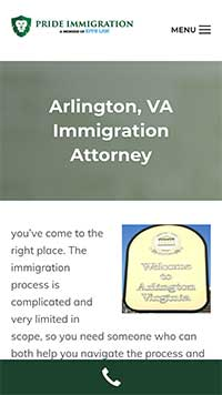 Arlington page as part of law firm marketing strategies