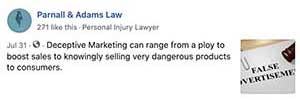 Law firm marketing social media post