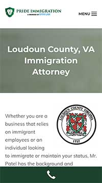 Loudon County page as part of law firm marketing strategies