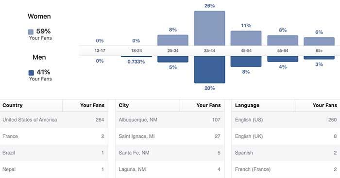 Law firm social media marketing Facebook data
