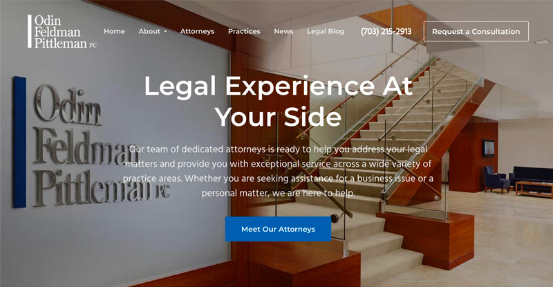 OFP Law website design by 321 Web Marketing