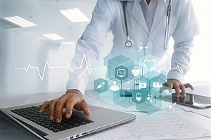 a healthcare worker who is benefitting from healthcare marketing services