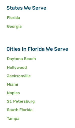 cities in which are served with geopages